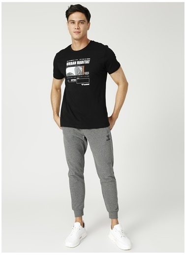 Hummel Hummel Koyu Gri Erkek T-Shirt Gri